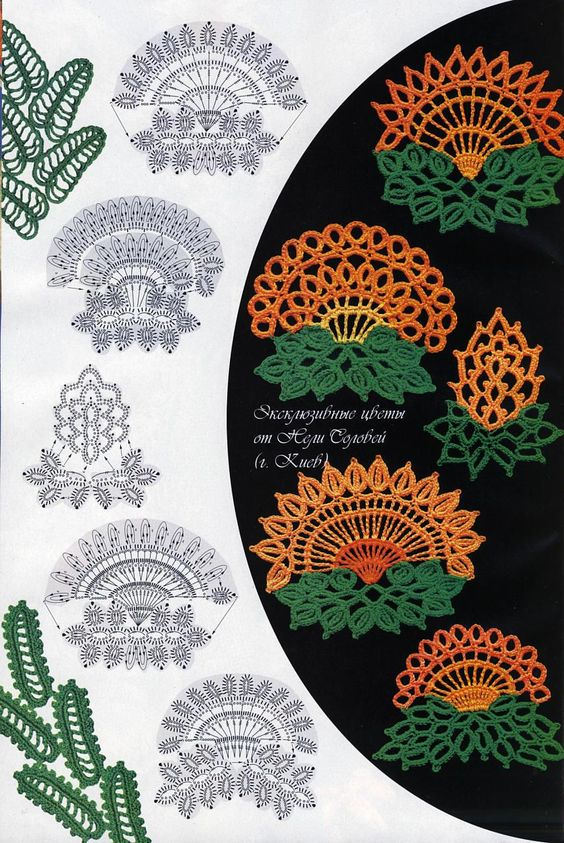 Crochet leaves / Hojas de ganchillo