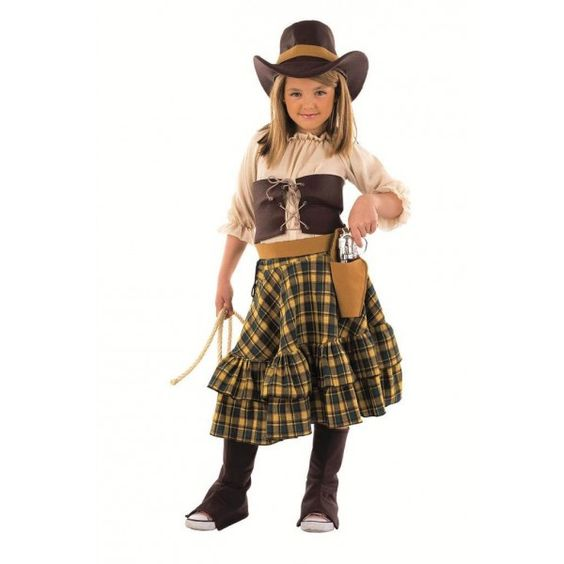 Costume de cow-girl bandit fille