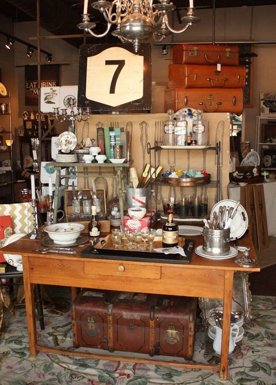 Looking for original and unique gift? #Rustic, #vintage, #antique decor details, beautiful china rentals? Stop by Table Seven! The Bridal Dish loves this charming shop.  http://www.thebridaldish.com/vendors/table-seven-antiques
