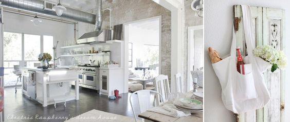 Pretty white kitchen.