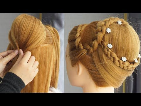 Hairstyle For Gown Dress For Farewell Party Cute Easy Hairstyles For Medium Hair Bun Yo Hairstyles For Gowns Bridal Hair Buns Easy Hairstyles For Long Hair