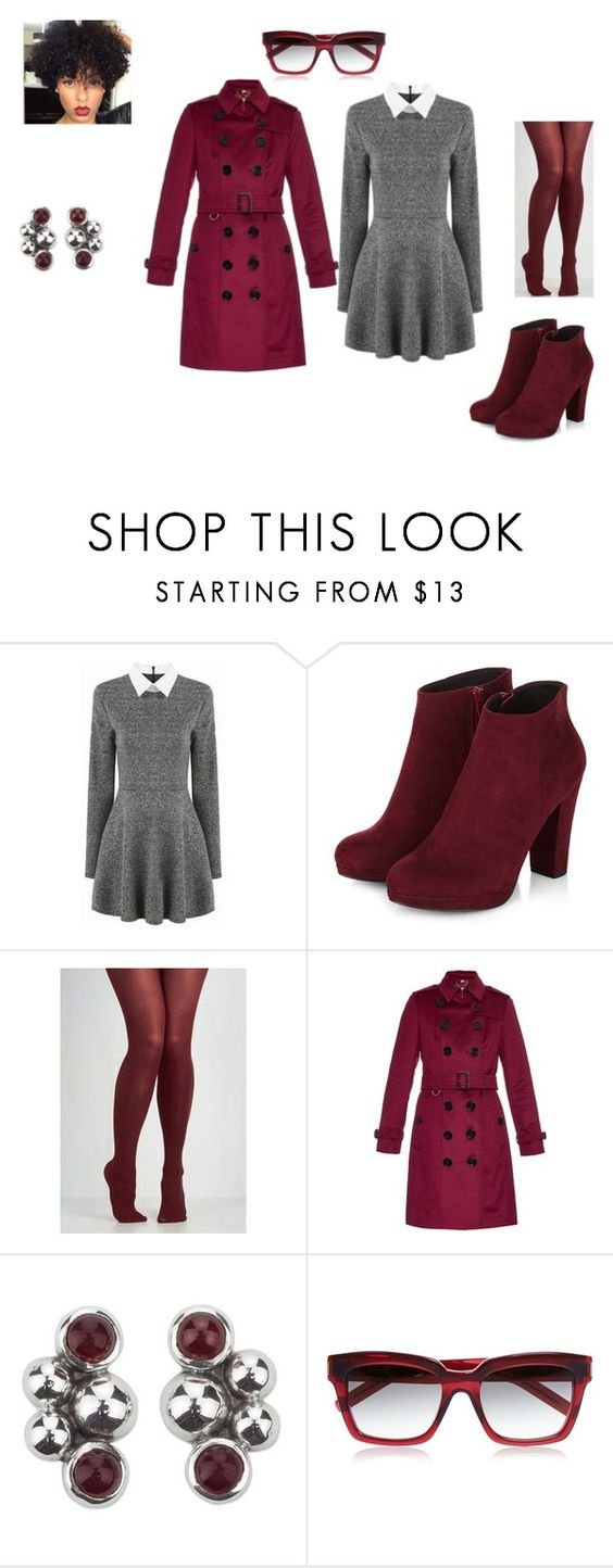 """Untitled #71"" by mcheris ❤ liked on Polyvore featuring Burberry, NOVICA and Yves Saint Laurent"