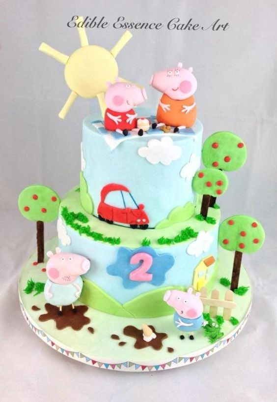 Peppa Pig Cake Party Pinterest Gateaux, Peppa pig et ...