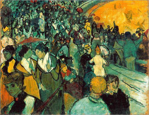"""Bild von Vincent van Gogh - """"Die Arena in Arles"""""""