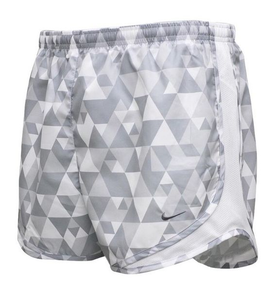 shorts grey gray white triangle printed tempo nike running athletic sportswear