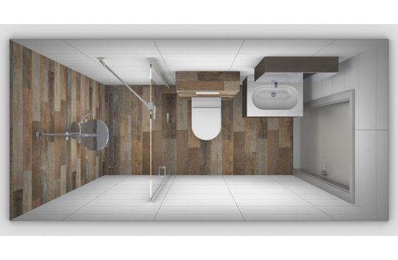 Indeling voor een kleine badkamer