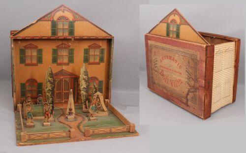 Details About Antique Stirn Lyon Automatic Combination Doll Villa Folding Wood Dollhouse Small Tent Home Decor Dolls