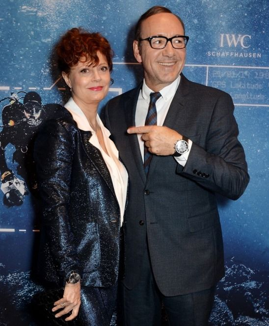 Susan Sarandon & Kevin Spacey wearing IWC watches