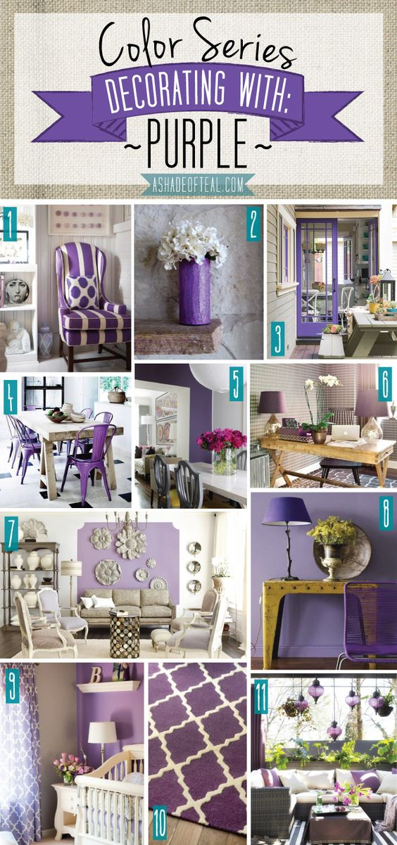 color series; decorating with purple | teal, decorating and purple