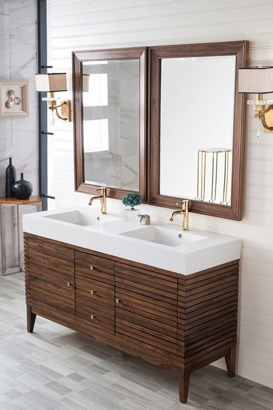 Arianny 59 Inch Double Sink Bathroom Vanity With Images
