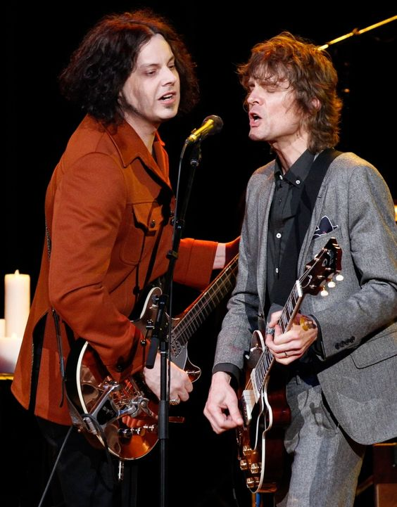 A good old-fashioned jam session. Current GRAMMY nominee Jack White reunites with Raconteurs bandmate Brendan Benson during a performance at the Brendan Benson & Friends benefit for the David Lynch Foundation on Dec. 18 in Nashville, Tenn.