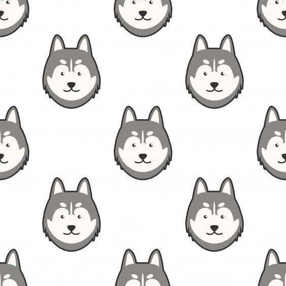 The Best Siberian Husky Cartoon Wallpaper PNG