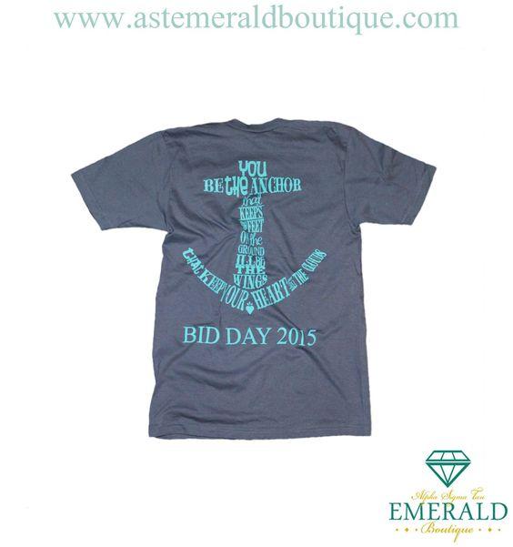 Alpha Sigma Tau Bid Day Anchor V-Neck