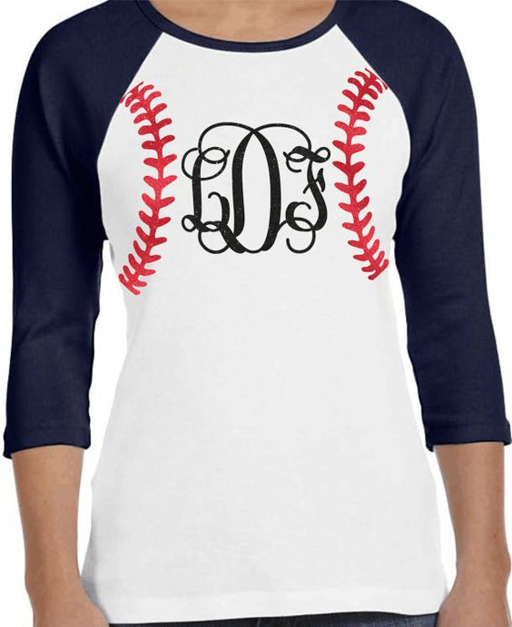 Baseball monogram raglan shirt custom baseball shirt for Custom raglan baseball shirt