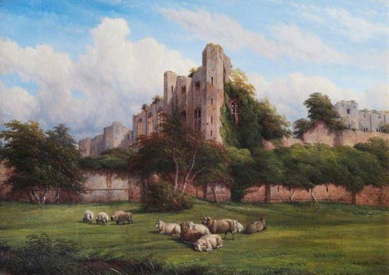 Lord Leycester Tower, Kenilworth Castle, Warwickshire by Thomas Baker  Date painted: 1862 Oil on canvas, 63 x 79 cm Collection: Leamington Spa Art Gallery & Museum