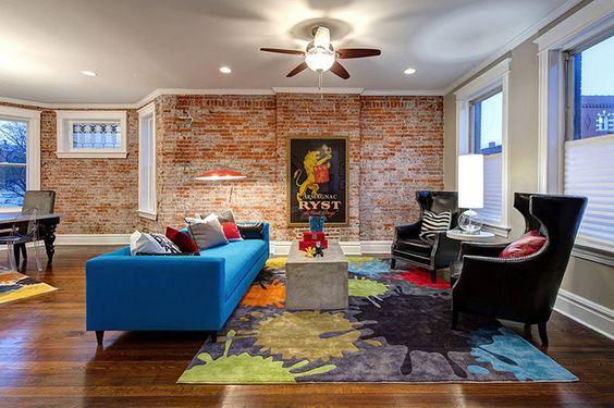 sofa marrom sala - Pesquisa Google