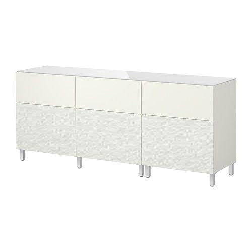 BESTÅ Aufbewkomb.+Türen/Schubladen - Laxviken weiß - IKEA