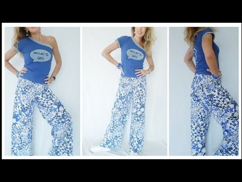 cheap for discount 30314 4a0a3 Palazzo Pants in 10 min. senza cartamodello |DIY - YouTube ...