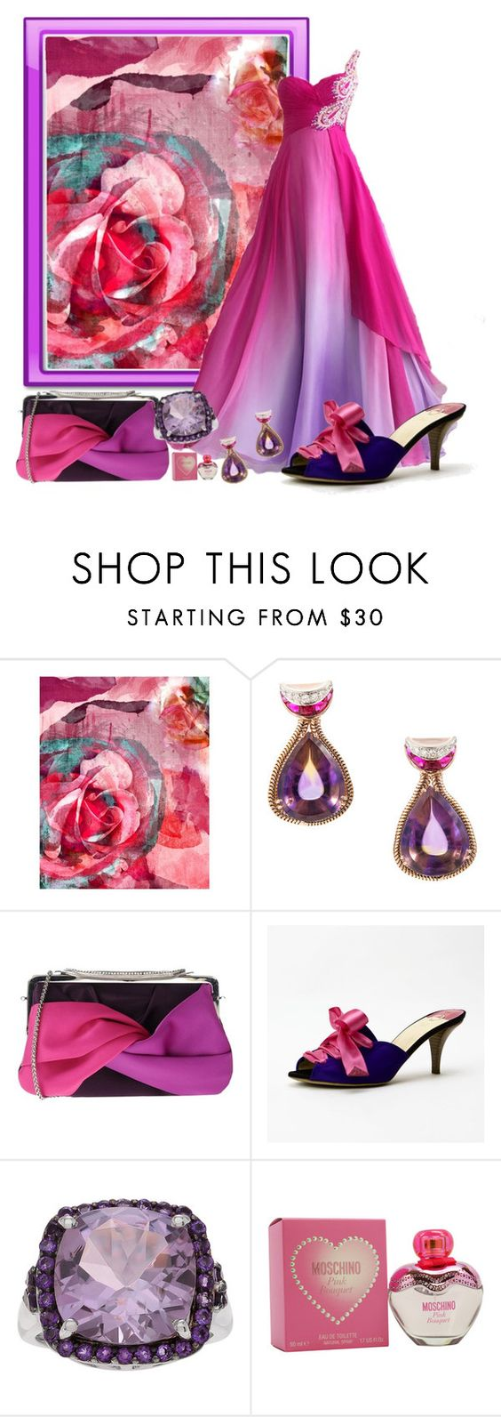 """""""Be Bright!"""" by lexuslady ❤ liked on Polyvore featuring PTM Images, Tosca Blu, O Jour and Moschino"""