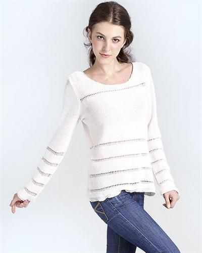Silence Feel Cut-Out Embellished Knitted Sweater