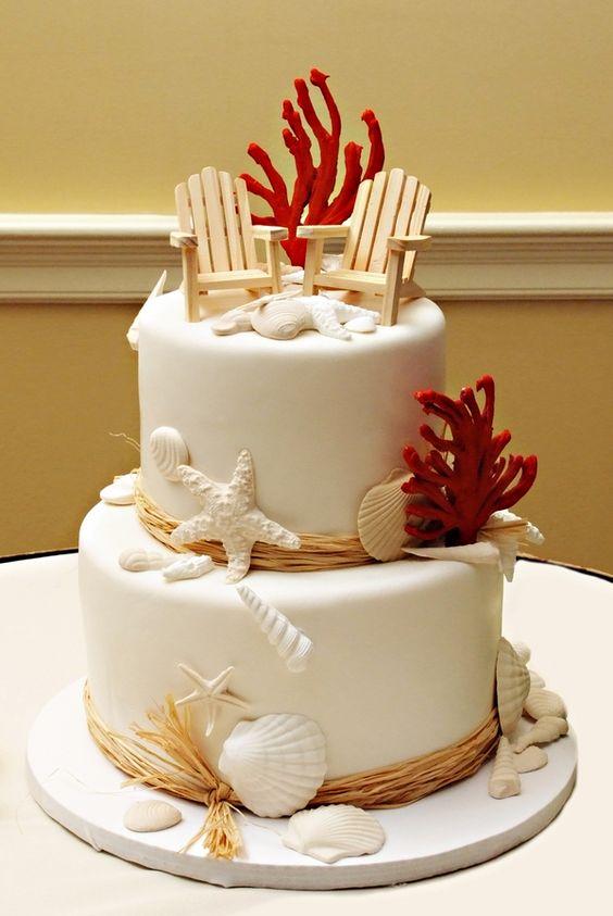 nice beach wedding cake