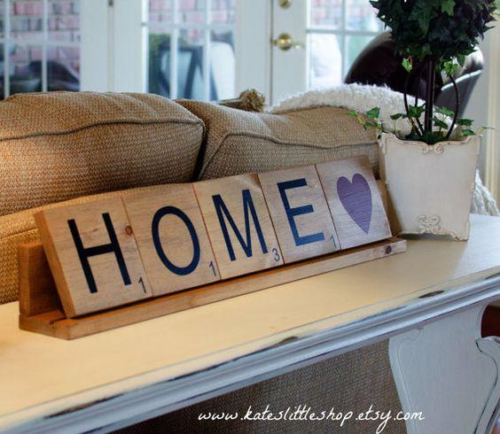 Handmade Large Scrabble Tile. Home Scrabble Tiles. Love Scrabble Tiles. Home…