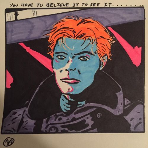 #davidbowie #bowie #themanwhofelltoearth #nicolasroeg #scifi #sciencefiction #alien #orange #cult #cultmovies #icon #iconic #movies #film #1976 #newton #art #instaart #drawing #draw #bright #pink #blacklight #psychedelic