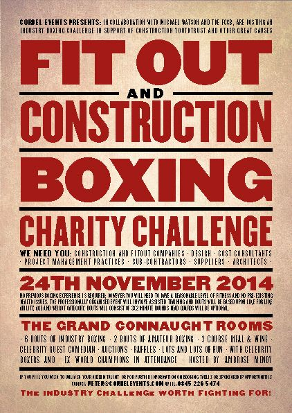 Charity Boxing event in London POSTER