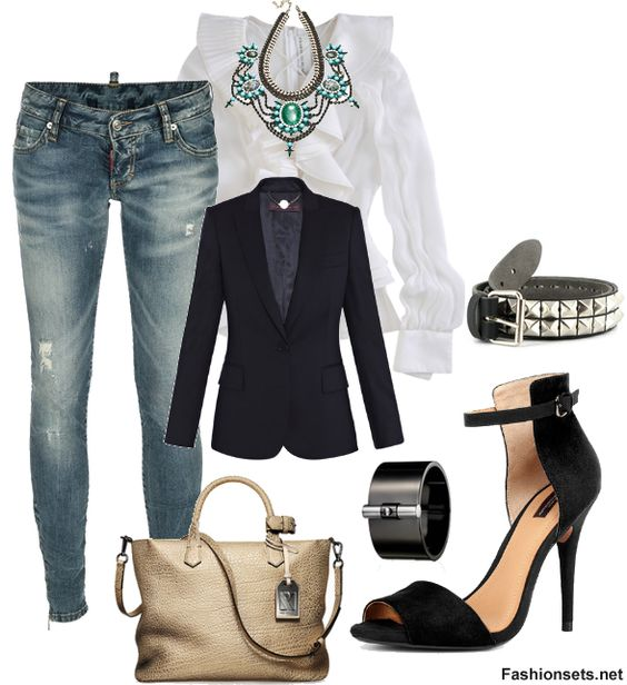 What To Wear With Distressed Denim – Fashion Sets For Distressed Denim