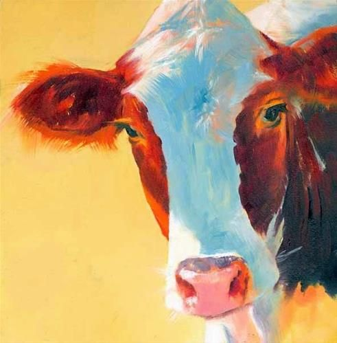A lot of people paint cows. Not a lot do it this well. Daily Paintworks - Brenda Ferguson