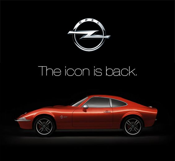 vintage car sport car red car rouge icon classic coup opel gt retro opel gt concept. Black Bedroom Furniture Sets. Home Design Ideas
