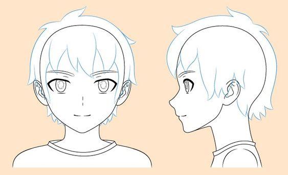 Vẽ khuôn mặt anime nam