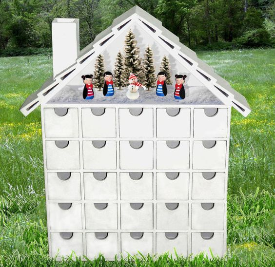 NEW Wooden Diorama Advent Calendar  DIY Back in by StardustKay