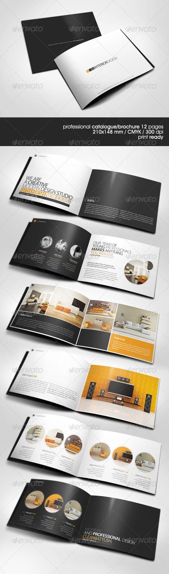 interior design brochure - Brochures, Layout and Modern on Pinterest