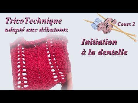 Tuto Tricot Pour Debutant Initiation A La Dentelle Cours 2 Youtube Crochet Crochet Hats Crochet Top