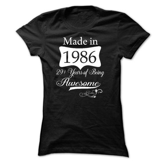 1986-29 years T Shirt, Hoodie, Sweatshirt