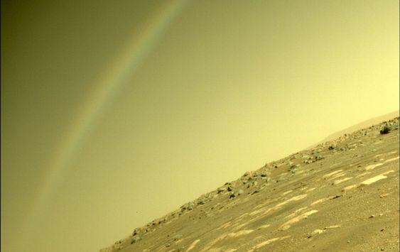 Een regenboog op Mars?