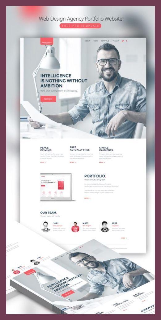 Web Design Marketing Agency Portfolio Website Free Psd Template Designs Bucket Free Desi In 2020 Portfolio Web Design Web Design Agency Portfolio Website Design