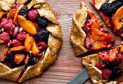 Mixe Red Fruit, Apricot and Hazelnut Galette