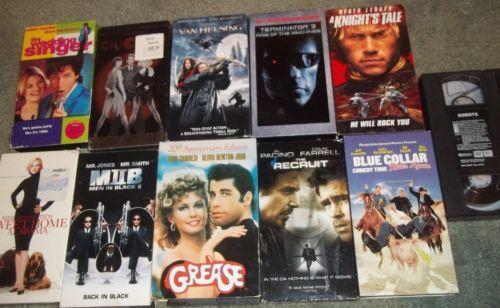 Van Helsing Terminator Grease Chicago Knights Tale Wedding Singer VHS Action