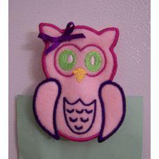 Owl Memo Clip Girl ITH