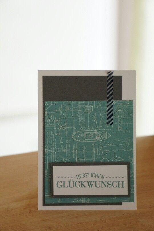 """Männerkarte aus SU Block """"weite Welt"""""""