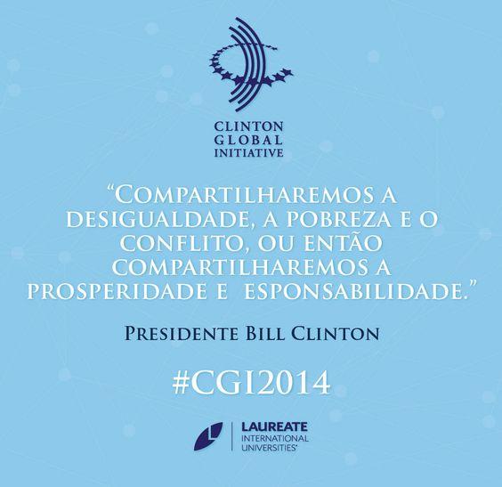 Presidente #Clinton em #CGI2014. #Laureate