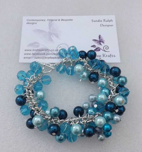 'Loaded' charm bracelet.  One of my many beaded designs