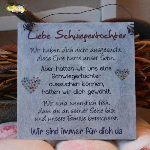 Pin Von Jutta Auf Gedichte Schwiegertochter Tochter Briefe