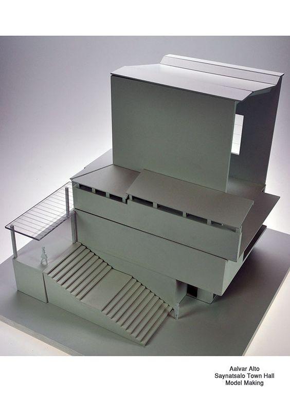 Alvar Aalto - Saynatsalo Town Hall Model Making on Behance