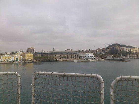 Hoy hemos tenido la suerte de ver nuestra aula, en el Museo Naval de Cartagena, desde otra perspectiva...