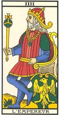 Interprétation de l'arcane de l'Empereur dans le jeu du tarot de Marseille. - Apprendre le Tarot de Marseille, le Tarot Divinatoire