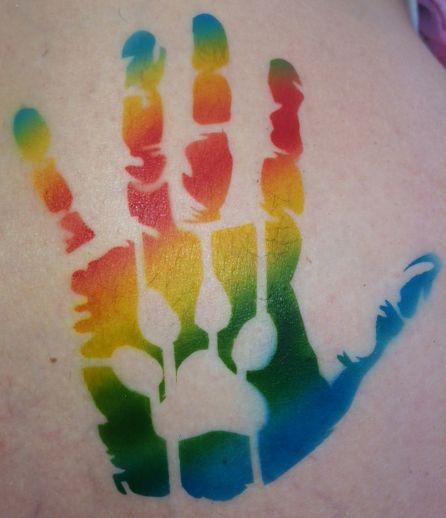 Rainbow paw & hand print | Chameleon Ink's Airbrush ...