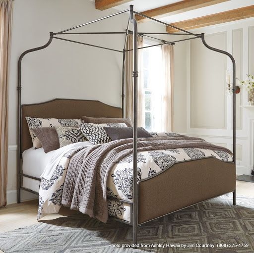 dreams take flight in the beautiful moriann king poster bed twill upholstery softens headboard. Black Bedroom Furniture Sets. Home Design Ideas